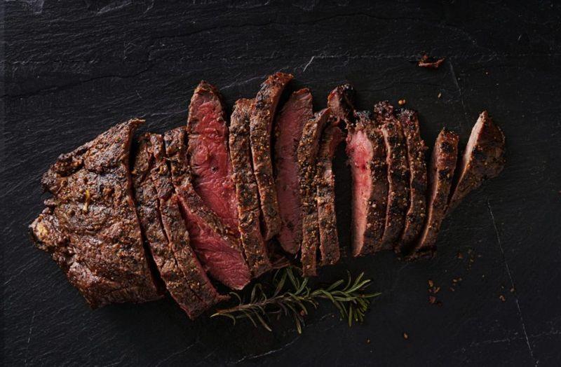 Resting and prepared steak