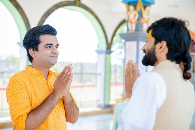 Bid Namaste to respected individuals