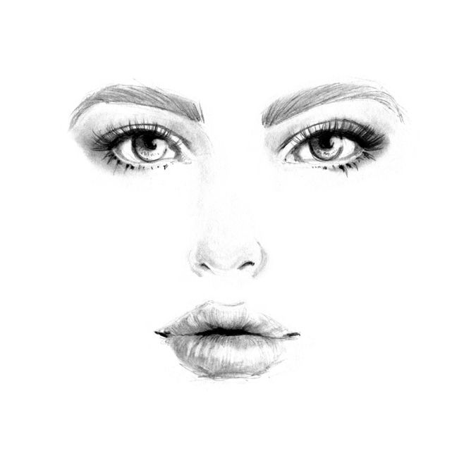 shading the lip pencil drawing
