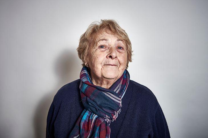 Studio Portrait of a elderly women