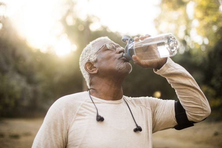drinking water hydrated