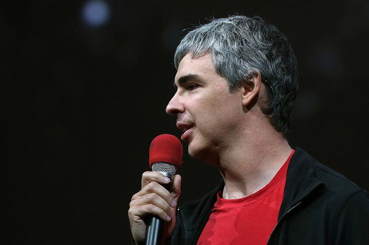 Larry Page, Google co-founder and CEO speaks during the opening keynote at the Google I