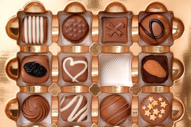 BOX OF CHOCOLATES WITH ONE MISSING