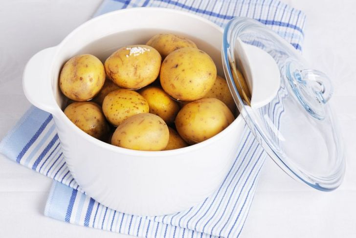 boiling mashed potatoes