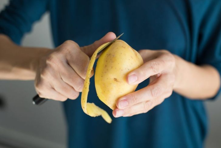 peel mashed potatoes