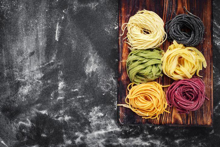 color homemade pasta