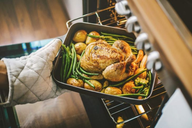 whole chicken baked in oven
