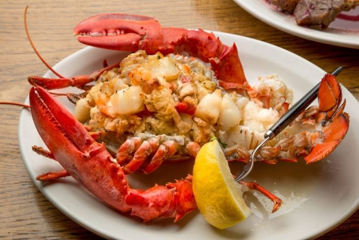 stuffing lobster tail