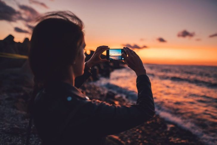 Smartphone camera photograph