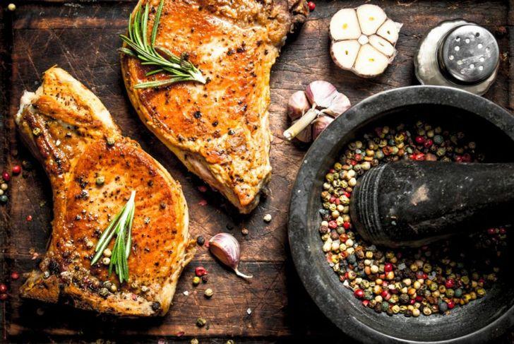 cooking Pork chop
