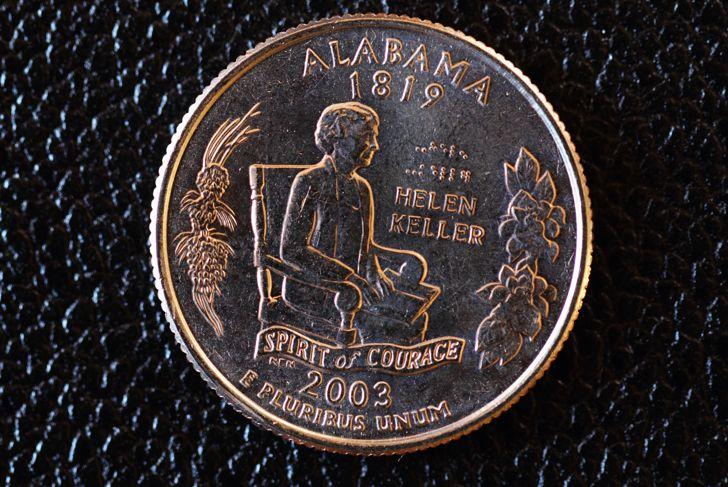 Alabama Helen Keller U.S. Commemorative Quarter 2003