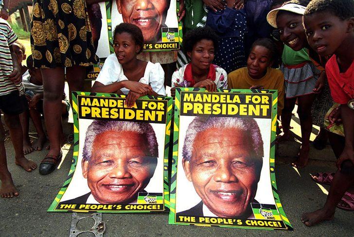 aparthied president Nelson Mandela