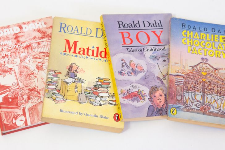 Roald Dahl books isolated on white background  8 By 88Andrei