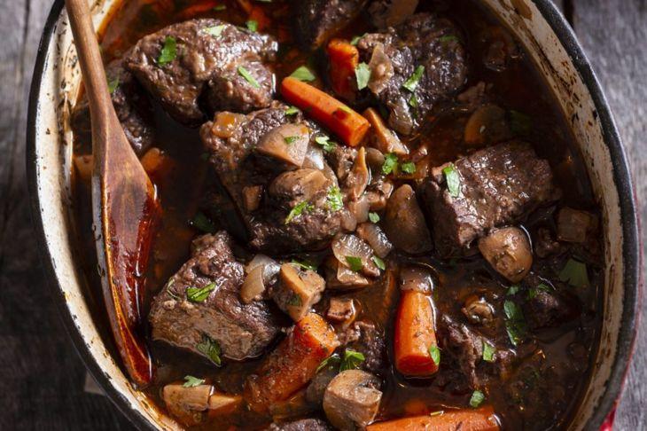 finish beef bourguignon