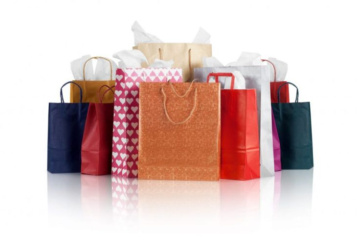 colorful gift bags tissue paper