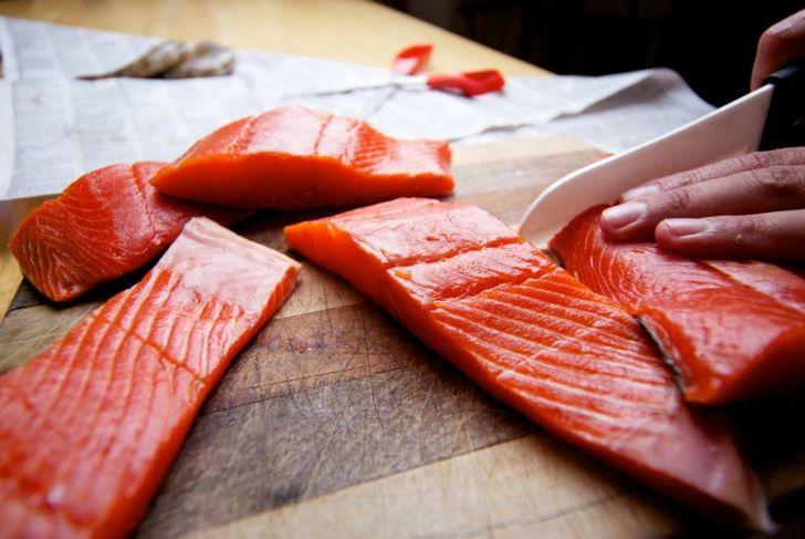 debone salmon after butchering