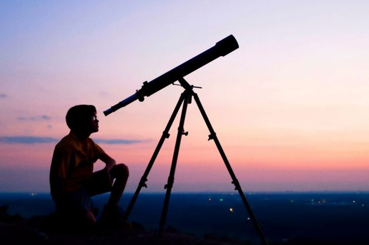 Use a simple telescope to see Saturn's rings.