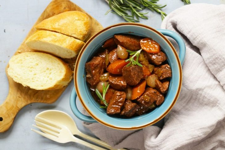 beef bourguignon with french bread