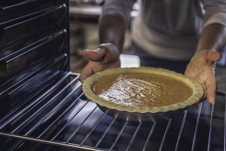 getting sweet potato pie ready
