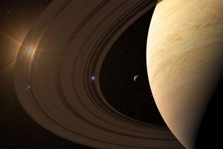 Saturn has gorgeous rings.