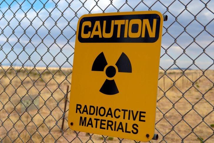 Warning Radioactive Materials!