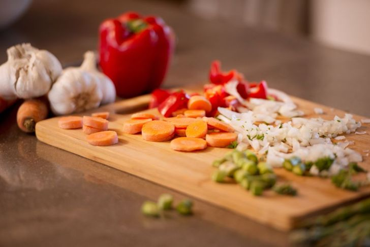 vegetable ingredients for chicken pot pie