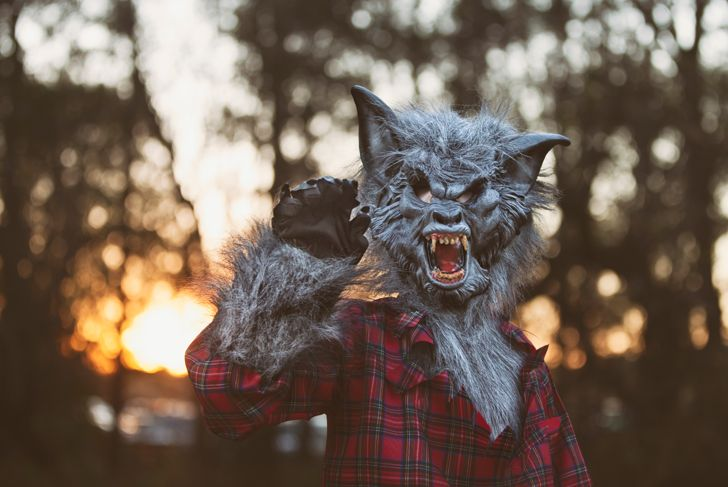 Werewolf at sunset