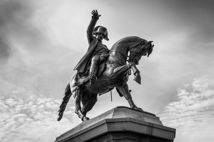 Napoleon statue on Horseback