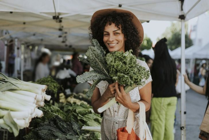 Kale at the farmers' market