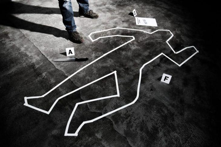 crime scene outline