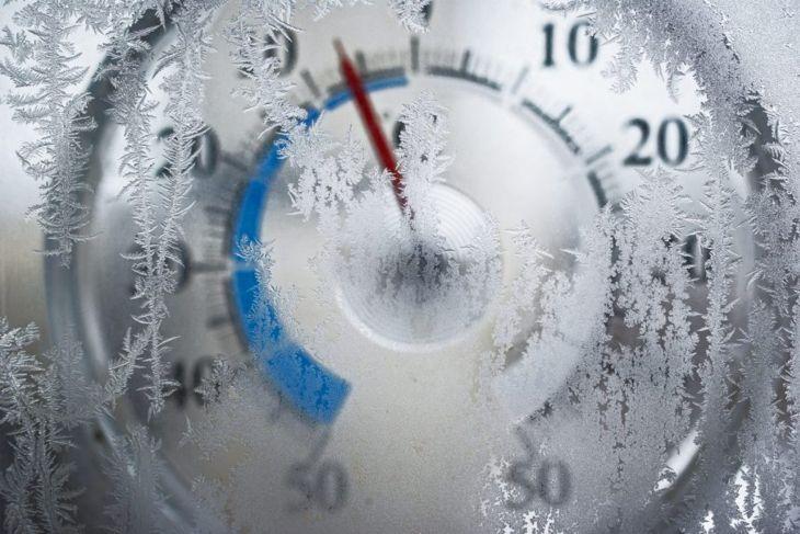 frozen ice crystals