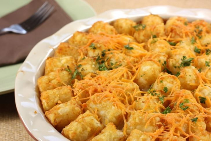 finished tater tot casserole