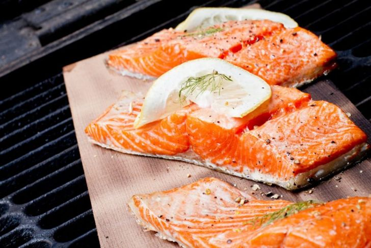 wild salmon grilled lemon dill