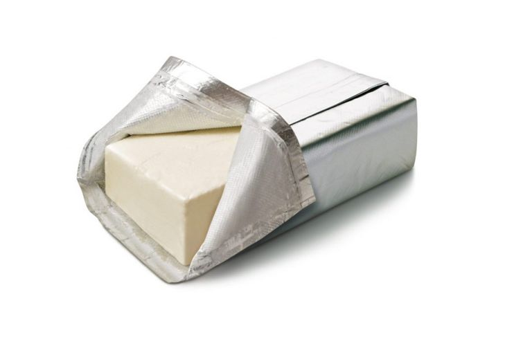 Package of cream cheese