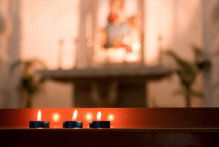 easter candles altar