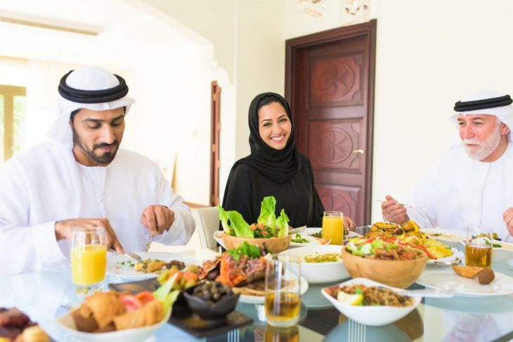 family enjoying eid