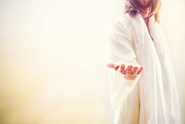 jesus holding out hand