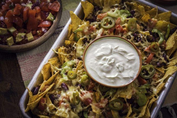 sour cream mexican taco