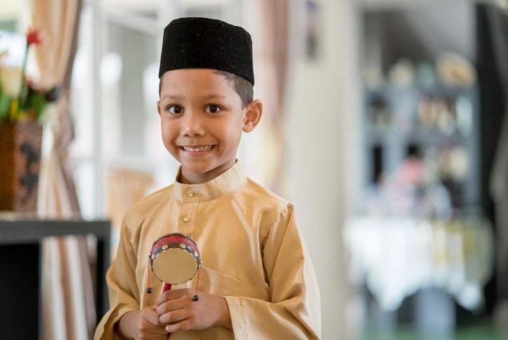 young boy ramadan traditional clothes