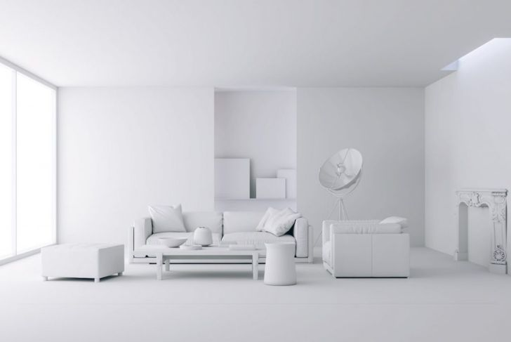 An all white room