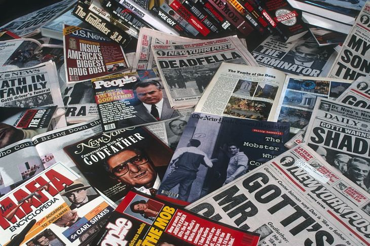 Newspapers and Magazines about Mafia on June 1, 1991 in New York, New York