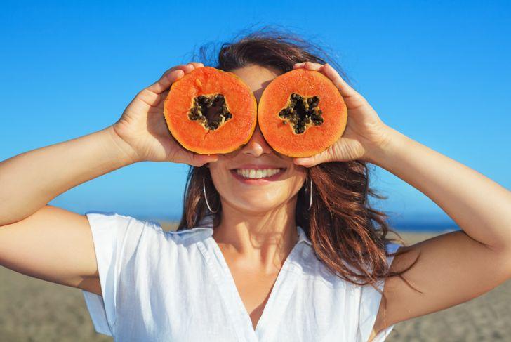 orange papaya slices