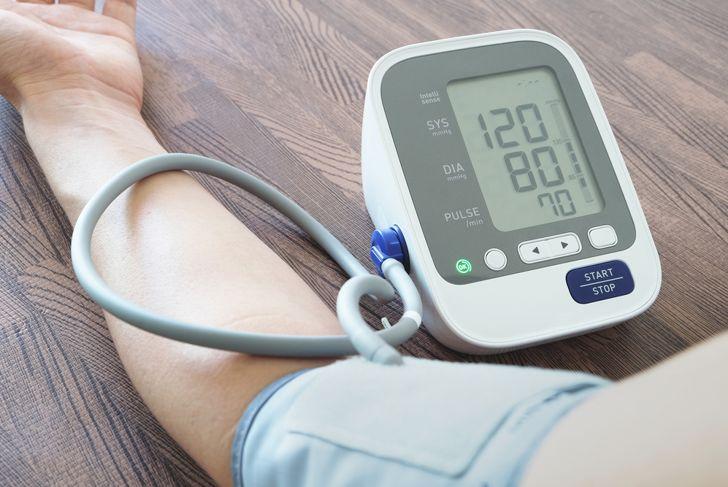 Men's health check blood pressure