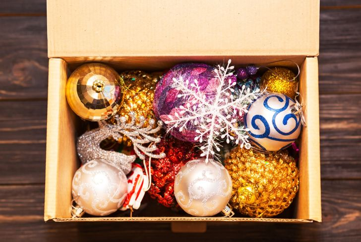 Christmas Decorations packed away