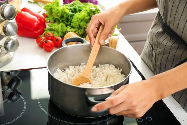prepare rice boil