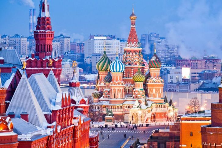Moscow, Russia in the winter
