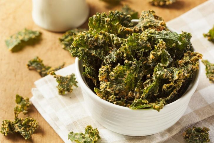 Kale chips are a crunchy treat