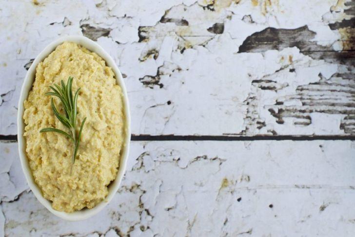 Hummus and rosemary