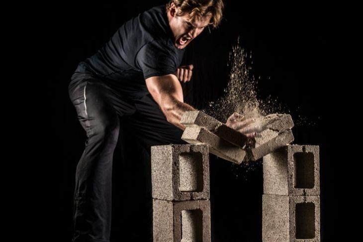 Breaking bricks