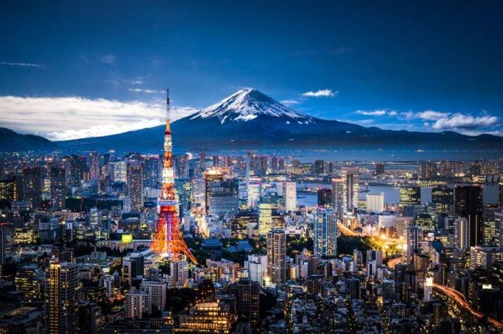 Tokyo skyline and Mt. Fuji